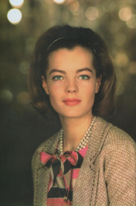 Portrait of Romy Schneider in Chanel, 1963.