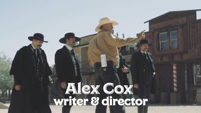 Alex Cox on set of Tombstone Rashomon